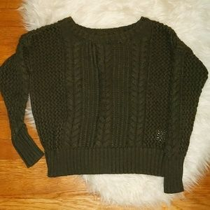 • ae • boxy cable knit sweater